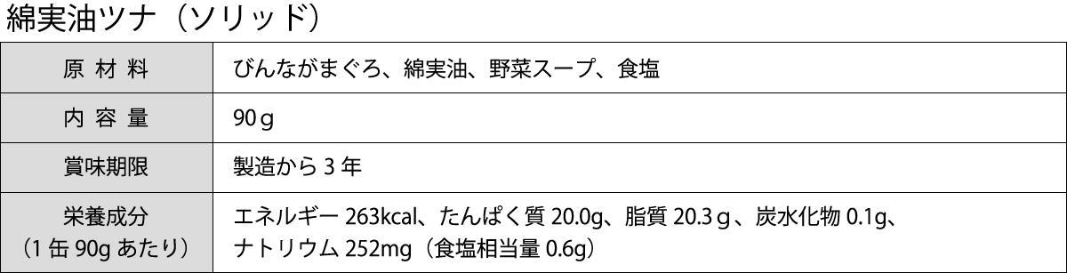 綿実油ソリッド商品説明