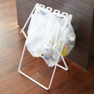 山崎実業 ゴミ袋&レジ袋スタンド tower タワー ゴミ箱 ごみ箱 ダストボックス