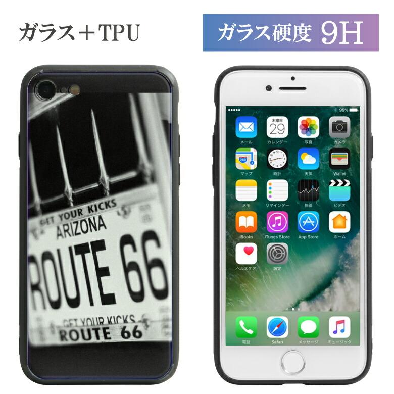 ガラスケース アメカジ iPhone8 iPhone7