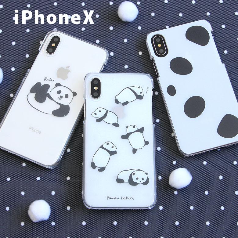 パンダ スマホケース iPhone X アイフォンX