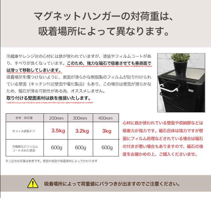 マグネット式キッチンペーパーホルダーの対荷重