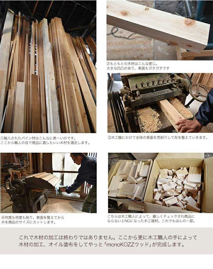 monoKOZZこだわりの木工作業