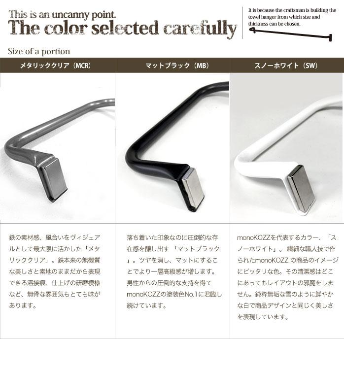 白と黒と素地色の3色から選べる傘掛け
