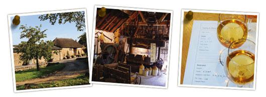 サイダーの博物館として開放されている藁葺小屋