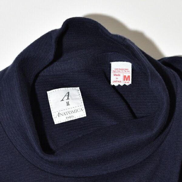 【送料無料】ANATOMICA アナトミカ モックネック Tシャツ TEE MOCK NECK TEE L/S 長袖 Tシャツ 無地 カットソー メンズ レディース 丸銅 ホールガーメント MADE IN USA アメリカ製