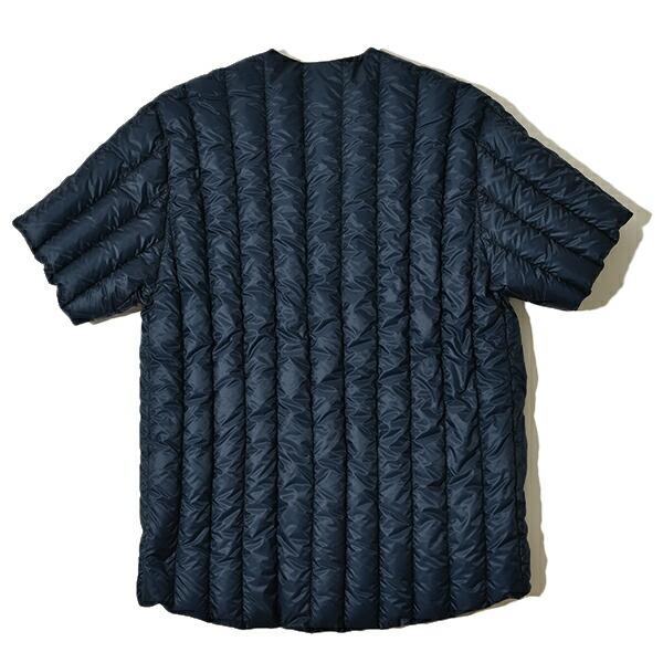Rocky Mountain Featherbed ロッキーマウンテンフェザーベッド MOONLOID ムーンロイド 別注  リバーシブル ダウンTシャツ ダウンカーディガン ブラック ネイビー メンズ 日本製 MADE IN JAPAN