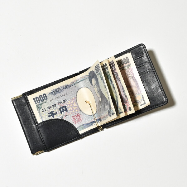 meanswhile ミーンズワイル money clip マネークリップ 財布 防水レザー 本革 MADE IN JAPAN 日本製