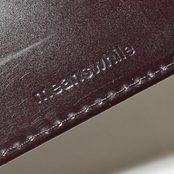 【送料無料】meanswhile(ミーンズワイル) ×MOONLOID(ムーンロイド) CORDOVAN コードバン 馬 本革 財布 ウォレット マネークリップ MADE IN JAPAN 日本製