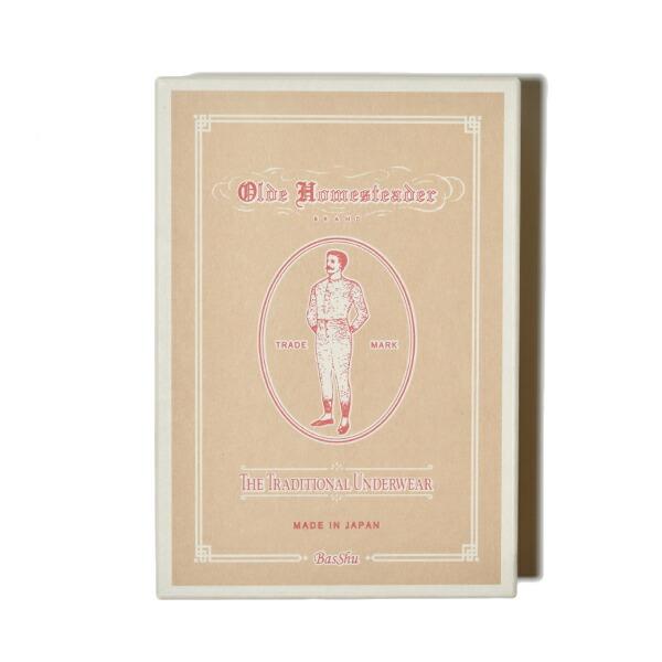 Olde Homesteader オールドホームステッダー ウーブン ボクサー トランクス WOVEN BOXER スラブ シャンブレー 無地 ギフト プレゼント MADE IN JAPAN 日本製