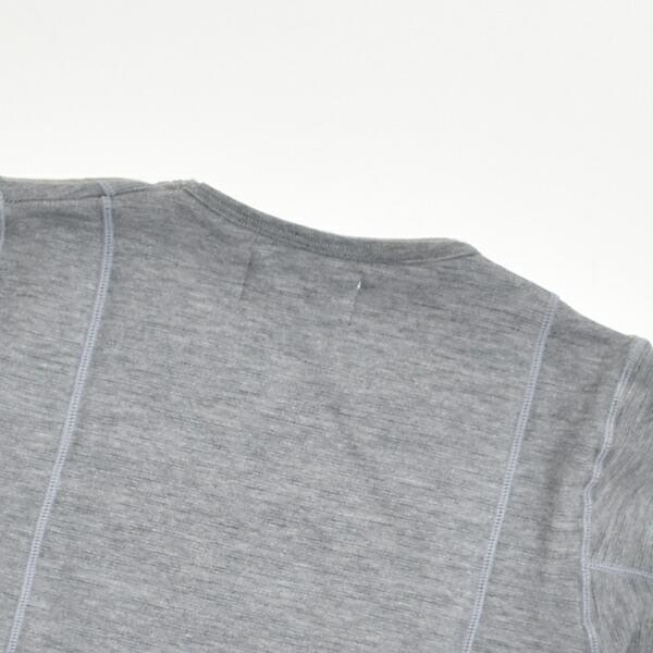 【送料無料】LOCALINA MERIYASU ロカリナ メリヤス motihada もちはだ Crew U-neck クルーネック ダブルチェスト カットソー U.S. NAVY アメリカ海軍 アンダーウェア もちはだ起毛 防寒インナー ワシオ バイク防寒 日本製 MADE IN JAPAN