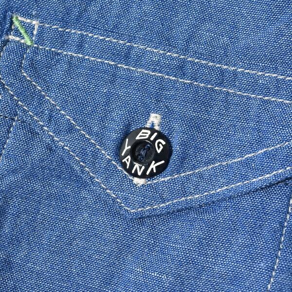 BIG YANK ビッグヤンク × ANATOMICA アナトミカ 1935シャツ 1935 SHIRTS INDIGO  CHAMBRAY インディゴ染 シャンブレー 日本製 MADE IN JAPAN 通販 送料無料