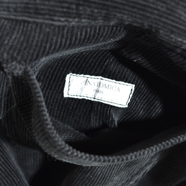 ANATOMICA アナトミカ レディース 別注 618 CORDUROY MARILYN 2 コーデュロイ マリリン2 Brisbane・Moss ブリスベンモス BLACK ブラック 黒 MADE IN JAPAN 日本製 送料無料 通販