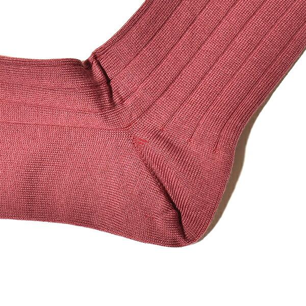 メール便対応 JOHN SMEDLEY ジョンスメドレー DELTA メンズ 無地リブソックス シーアイランドコットン 靴下 SEA ISLAND COTTON S/M MADE IN ENGLAND イギリス製