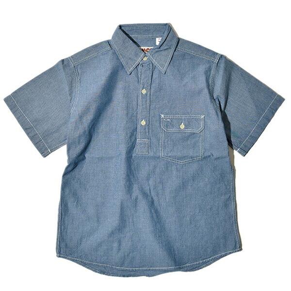 CAMCO カムコ シャンブレー プルオーバ シャツ 半袖 ワークシャツ