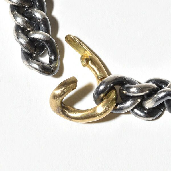 hum ハム humete ハムエタ チェーン ネックレス 40cm シルバー グリーンゴールド ダイヤモンド ゴールド 金 et-N61ss SV K18 GG