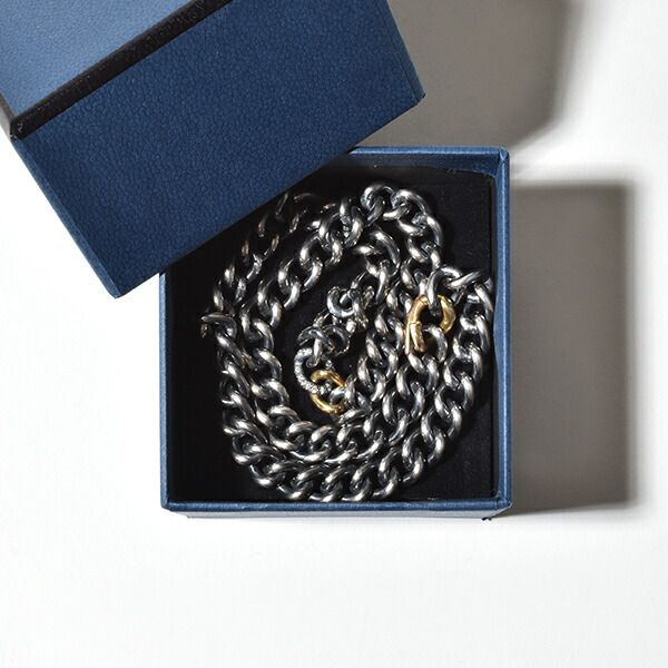 hum ハム humete ハムエタ チェーン ネックレス 45cm シルバー グリーンゴールド ダイヤモンド ゴールド 金 et-N62s SV K18 GG