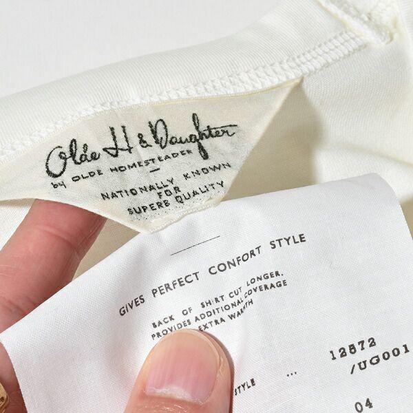 オールドエイチアンドドーター Olde H&Daughter クルーネック ショートスリーブ カットソー UG001 CREW NECK SHORT SLEEVE 日本製