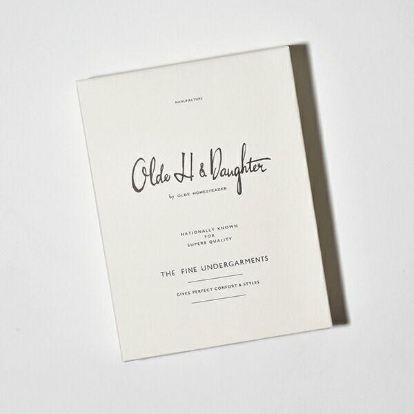 オールドエイチアンドドーター Olde H&Daughter スリーブレス ベスト タンクトップ ノースリーブ インターロック UG004 SLEEVELESS VESTS 日本製
