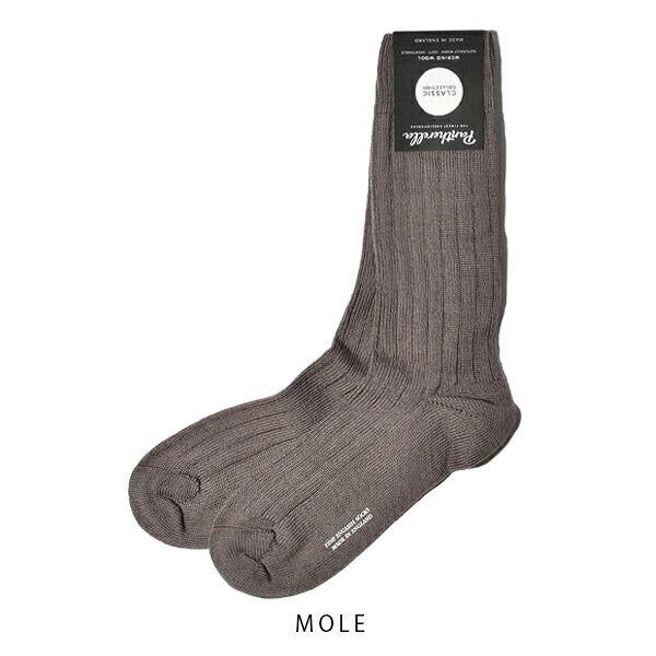 パンセレラ レディース 靴下 メリノ ウール 5×3リブ ソックス b59905 PANTHERELLA WOMENS
