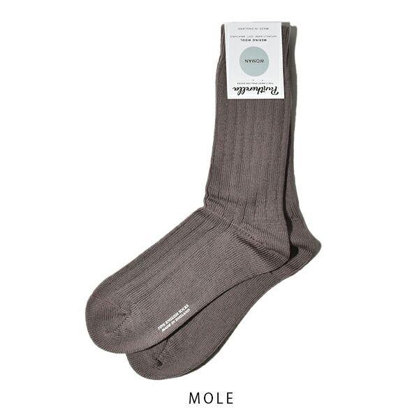 パンセレラ レディース 靴下 メリノ ウール 5×3リブ ソックス j905 PANTHERELLA WOMENS