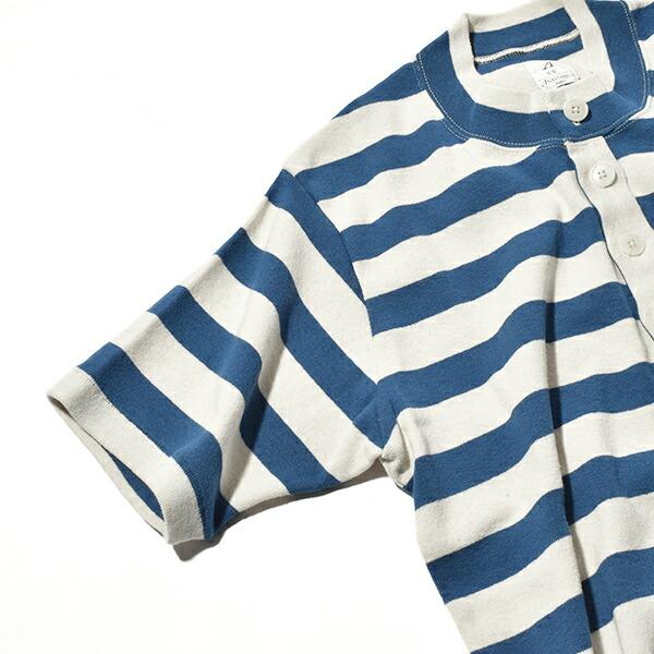 アナトミカ ボーダー マリナー 1910 ヘンリー S/S ヘンリーネック Tシャツ マリン 半袖 メンズ レディース ANATOMICA MARINIER 1910 HENRY S/S