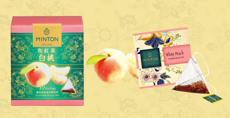 ミントン 和紅茶 白桃 茶葉、ティーバッグ