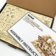 3Dウッドパズル コースターパッケージ