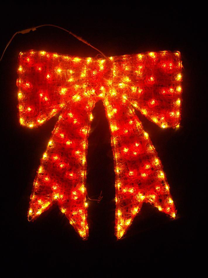 LEDクリスタルグローリボン(小)【イルミネーション】クリスマスイルミネーションモチーフ【送料無料!】