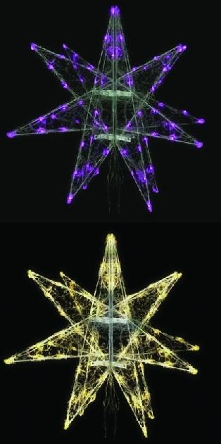 LEDセパレーツギャラクシー(小)4枚羽4色より1色お選びください【イルミネーション】クリスマスイルミネーションモチーフ【送料無料!】