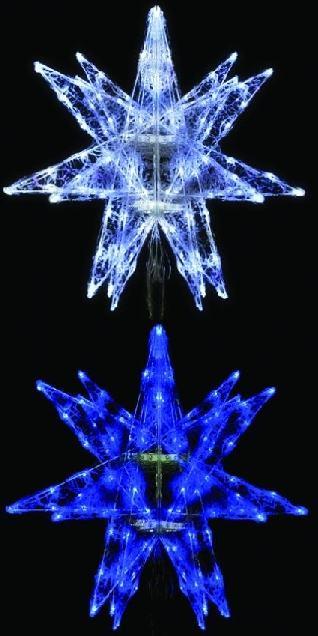 LEDセパレーツギャラクシー(中)6枚羽4色より1色お選びください【イルミネーション】クリスマスイルミネーションモチーフ【送料無料!】