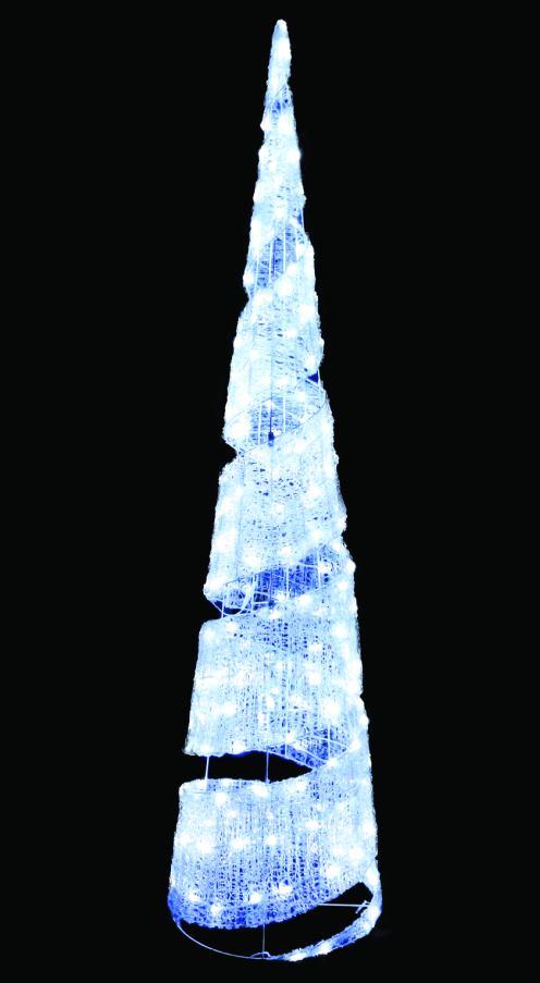 LEDクリスタルグロービッグコーンスパイラル(小)ホワイト【イルミネーション】クリスマスイルミネーションモチーフ【送料無料!】