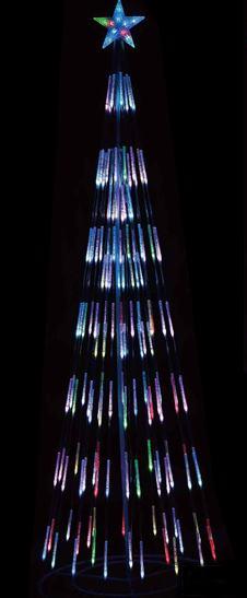 LEDタワーツリー180cmレッド、グリーン、ブルー球【イルミネーション】【送料無料!!】