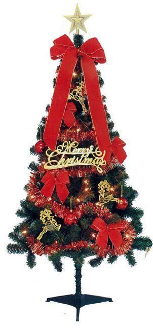 LEDデザインセットツリー150cm(2014)グリーンレッド室内用クリスマスツリー【イルミネーション】