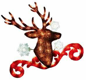 2Dブリリアントモチーフスノートナカイ【イルミネーション】クリスマスイルミネーションモチーフ