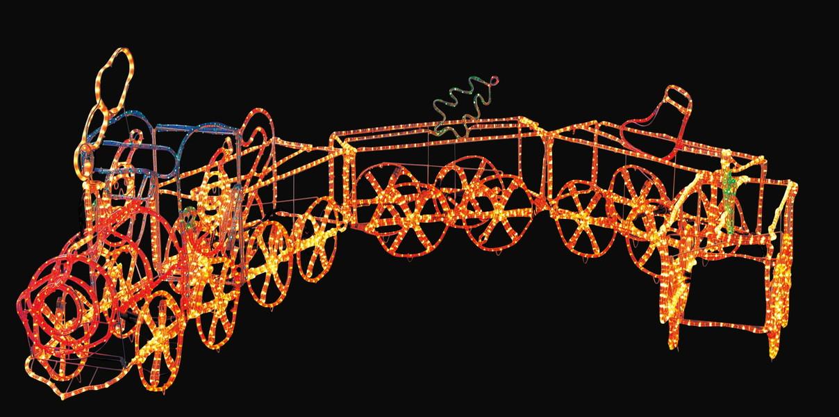 LEDトレイン【イルミネーション】クリスマスイルミネーションモチーフ【送料無料!!】