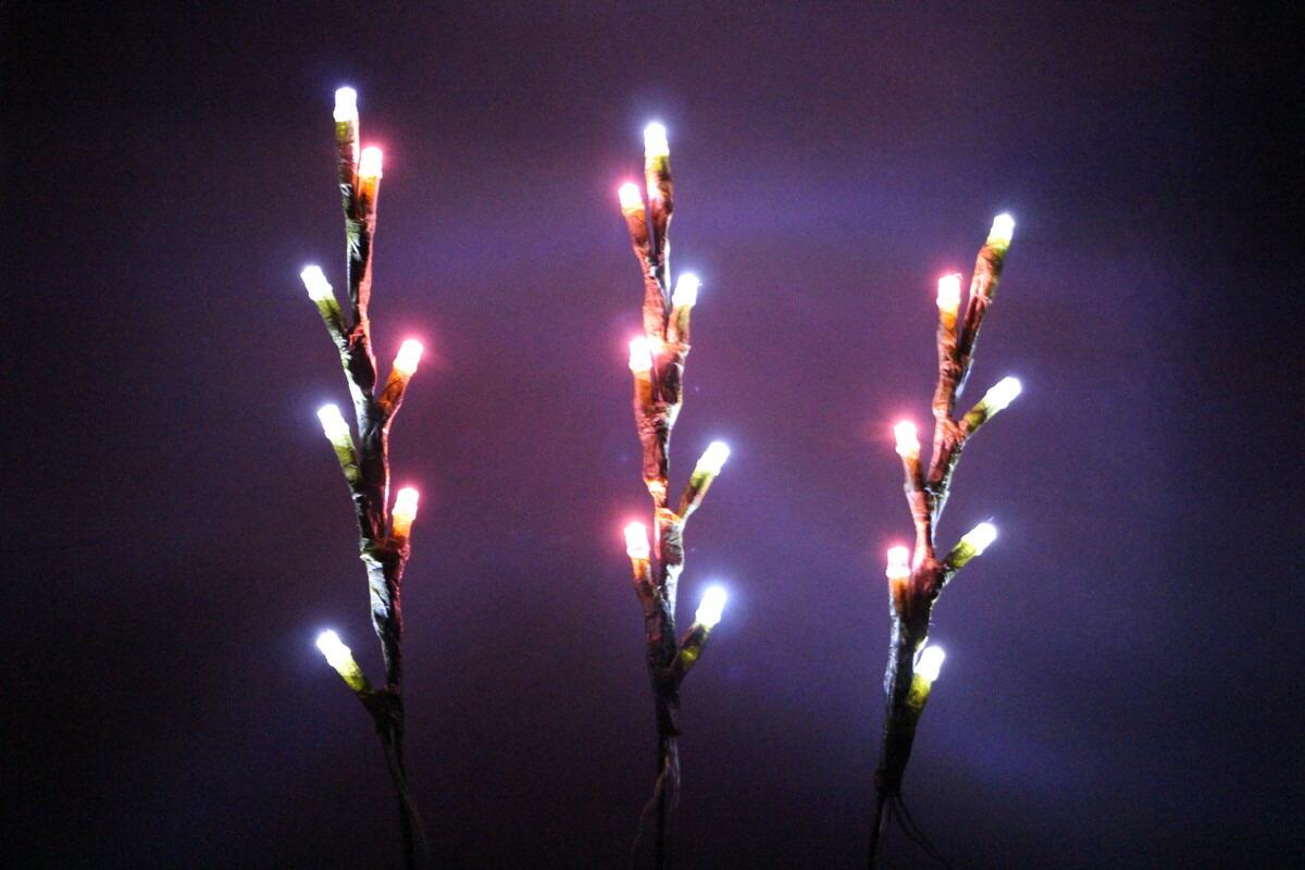 白ピンク色LEDピックライト【イルミネーション】クリスマスイルミネーションモチーフ