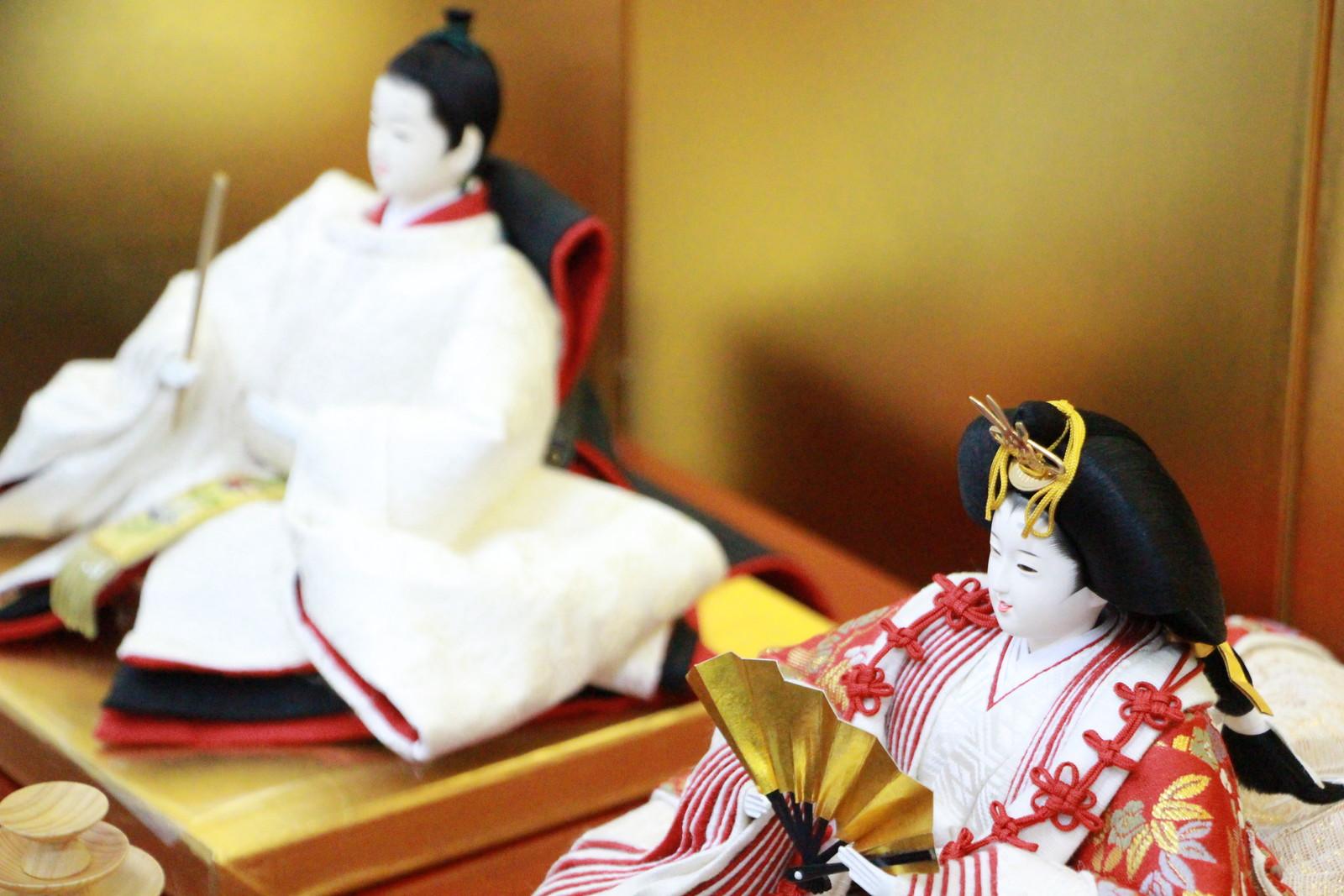 アート&デザイン後藤由香子作寿鶴創作雛人形平飾り【雛人形親王飾り】