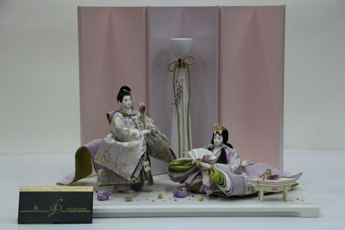 アート&デザイン後藤由香子創作雛人形PICCOLOシリーズ藤【雛人形親王飾り】