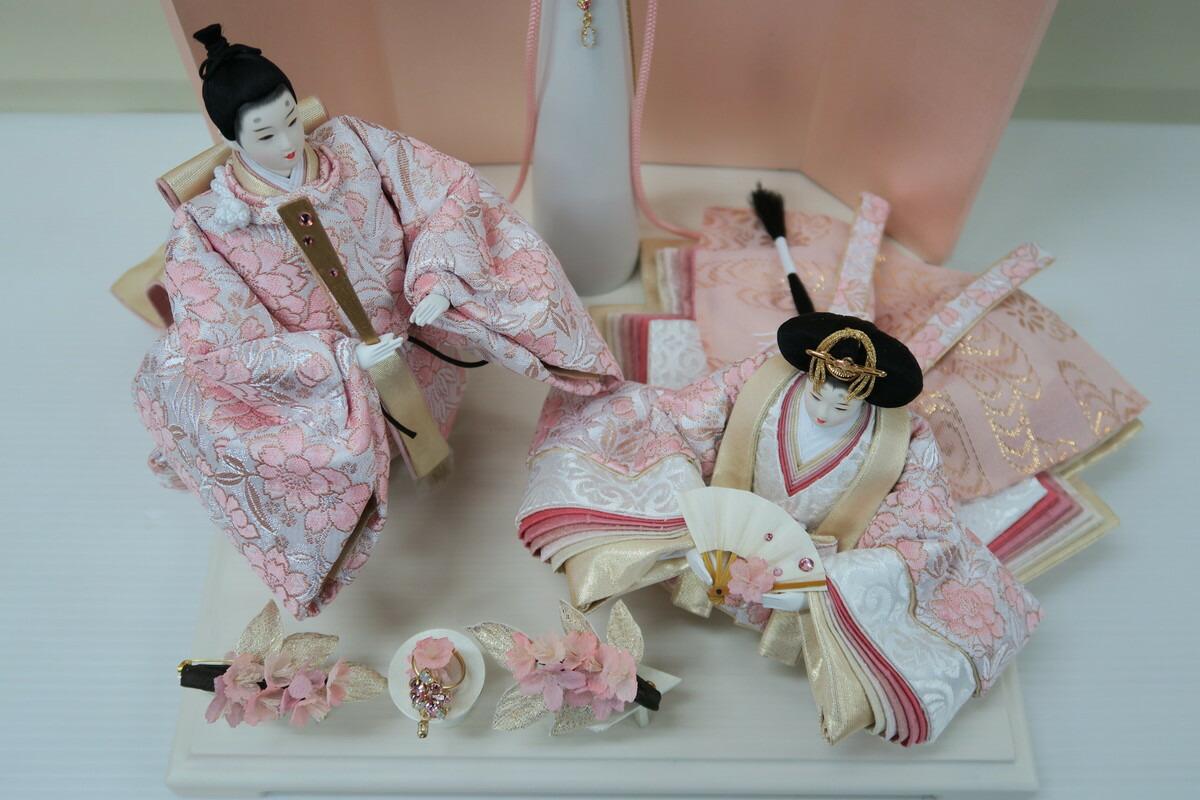 アート&デザイン後藤由香子創作雛人形PICCOLOシリーズ春色のこころ【雛人形親王飾り】