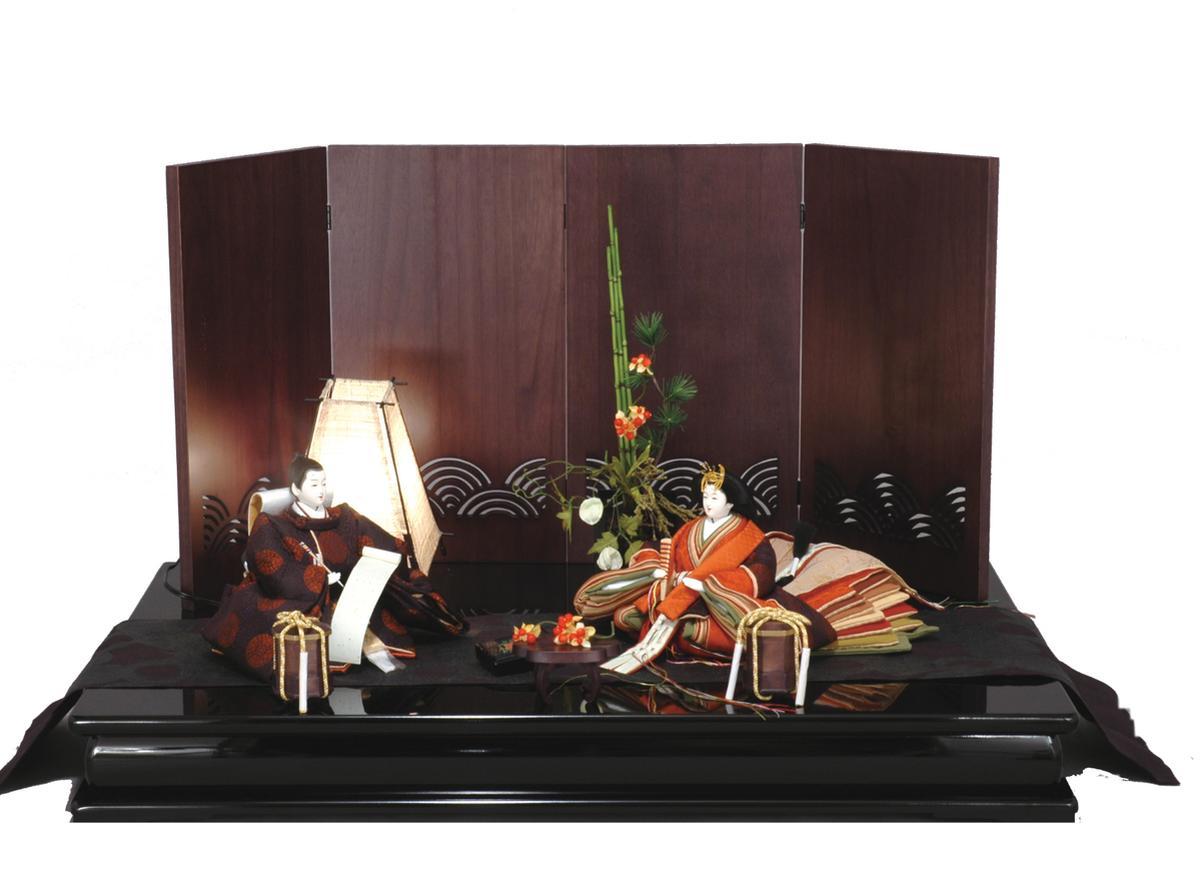 アート&デザイン後藤由香子作JAZZ創作雛人形平飾り【雛人形親王飾り】