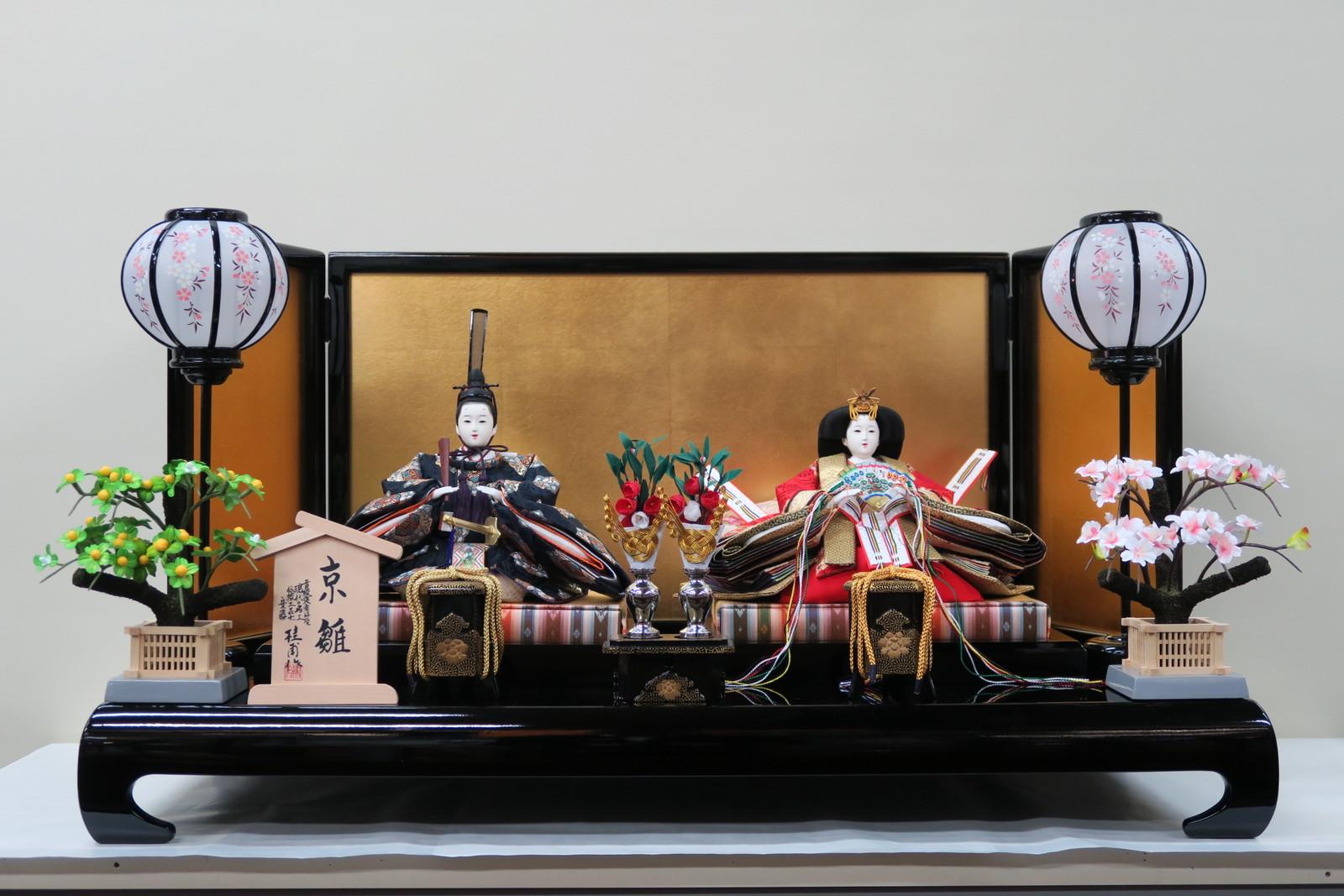 京雛十番雅印上本金金襴親王飾り