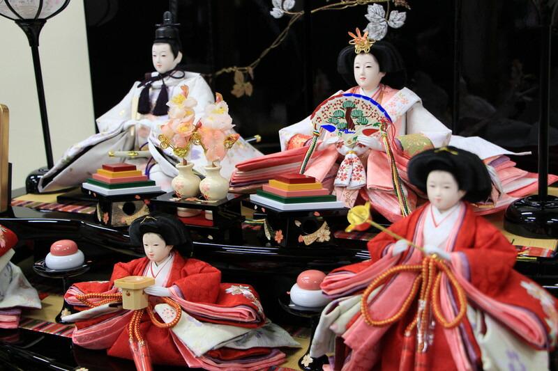 雛人形 コンパクトひな人形 五人飾り 三段飾り