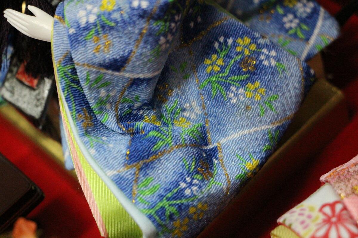 結奈芥子親王飾りLEDバックライト付き183-247【親王ケース飾り】親王飾りアクリルケースLED格子赤ケース青衣装ピンク衣装