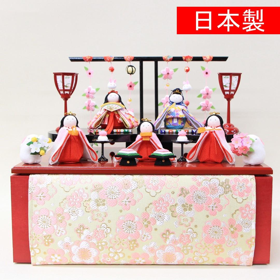 五人飾り 小桜収納飾り