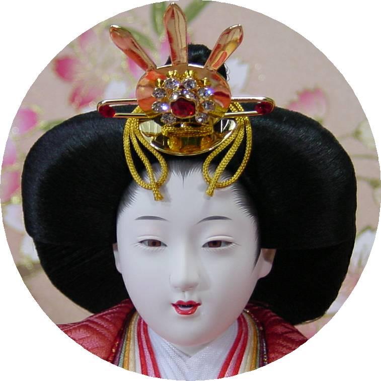 100歓喜雛正絹本金5人(焼き桐3段飾り)