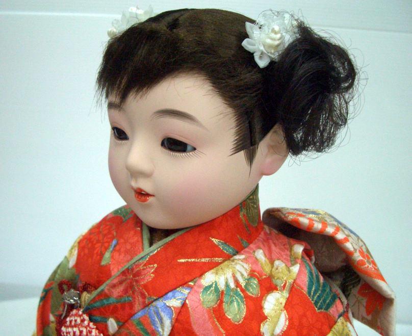 京友禅市松人形