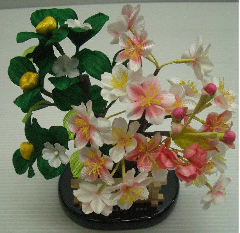 木製桜橘変わり形雛飾り付属桜橘訳あり特価