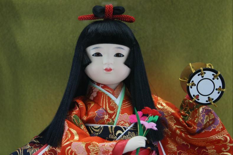 8号明日香浅妻木製枠ガラスケース飾り【雛祭り】【ひな人形】