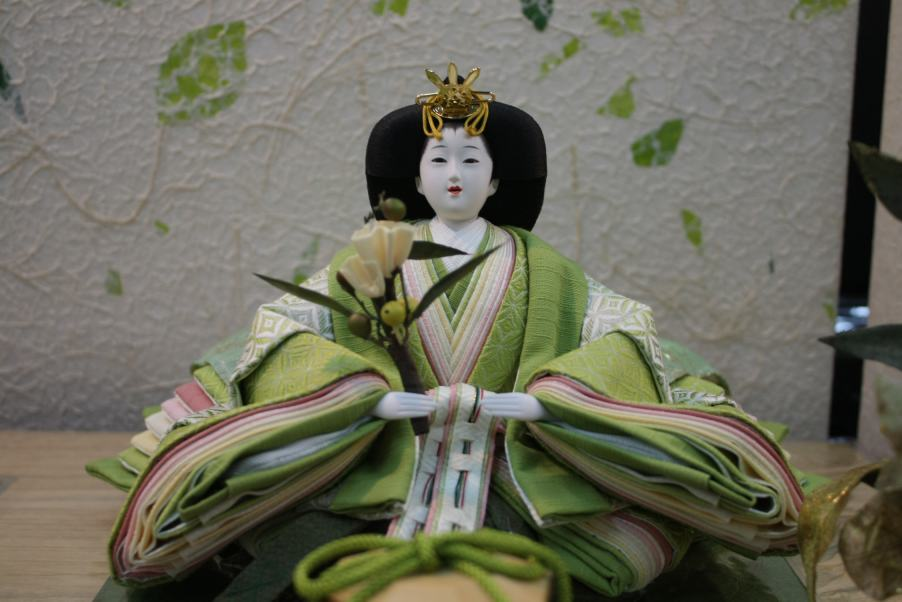 アート&デザイン後藤由香子作こもれび創作雛人形平飾り【雛人形親王飾り】