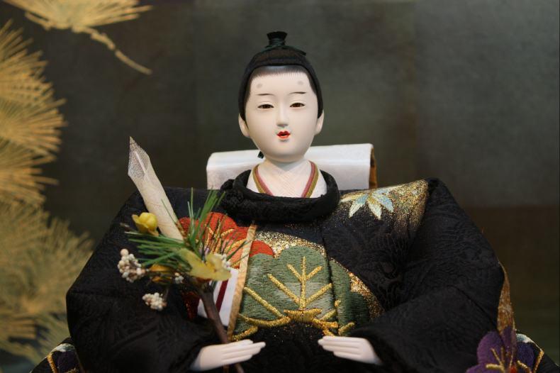 アート&デザイン後藤由香子作松づくし創作雛人形平飾り【雛人形親王飾り】